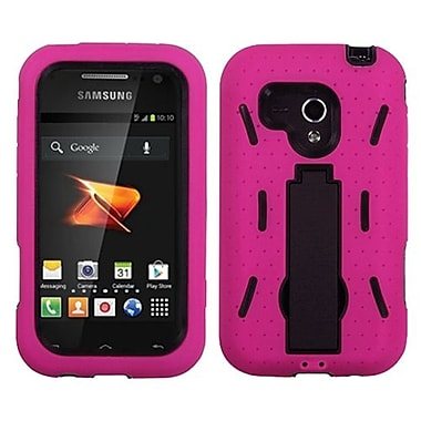 Insten® Symbiosis Stand Protector Case For Samsung M830 Galaxy Rush, Black/Hot-Pink