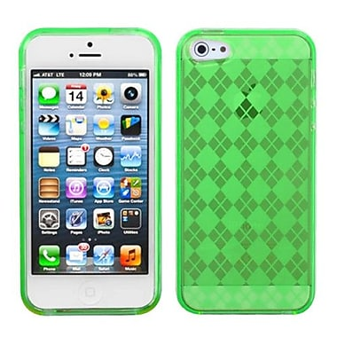 Insten® Argyle Candy Skin Cover F/iPhone 5/5S, Dr Green