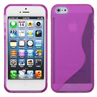 Insten® Argyle Candy Skin Cover F/iPhone 5/5S, Hot-Pink S-Shape