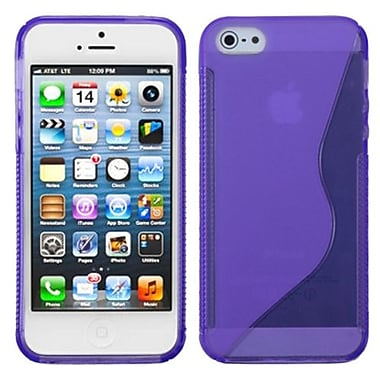Insten® Argyle Candy Skin Cover F/iPhone 5/5S, Purple S-Shape
