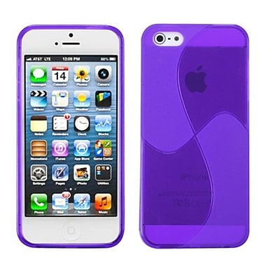 Insten® Argyle Candy Skin Cover F/iPhone 5/5S, Purple Windmill