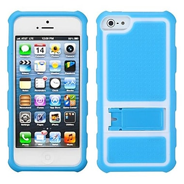 Insten® Gummy Case W/Armor Stand F/iPhone 5/5S, Baby Blue