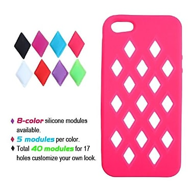 Insten® Module Skin Cover F/iPhone 5/5S, Electric Pink
