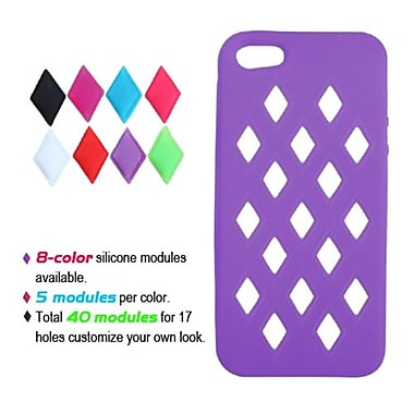 Insten® Module Skin Cover F/iPhone 5/5S, Electric Purple