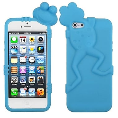 Insten Frog Peeking Pets Skin Cover For iPhone 5/5S, Baby Blue (1009632)