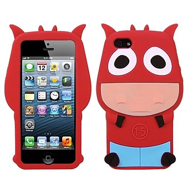 Insten Pastel Skin Cover For iPhone 5/5S, Red Cow (1009653)
