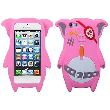 Insten Pastel Skin Cover For iPhone 5/5S, Pink Pirate Piggie (1009658)