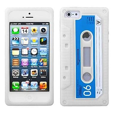 Insten Retro Cassette Skin Cover For iPhone 5/5S, White (1009676)
