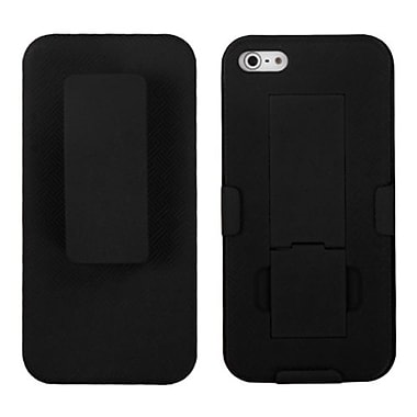 Insten® Hybrid Rubberized Holsters W/Stand F/iPhone 5/5S