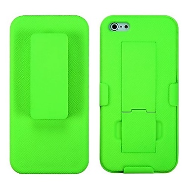 Insten® Hybrid Rubberized Holster W/Stand F/iPhone 5/5S, Green