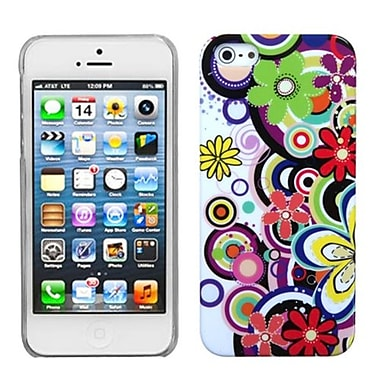 Insten Phone Back Protector Cover For iPhone 5/5S, Colourful Flowers (1009725)