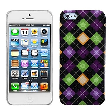 Insten® Phone Back Protector Cover F/iPhone 5/5S, Colorful Rhombic Plaid