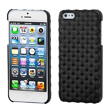 Insten Alloy Executive Back Protector Cover For iPhone 5/5S, Diagonal Plaid Lizzo Black Plaid (1009738)