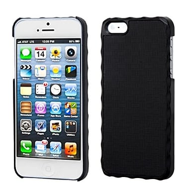 Insten Alloy Executive Back Protector Cover For iPhone 5/5S, Vertical Plaid Lizzo Black Plaid (1009739)