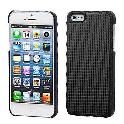 Insten® Alloy Executive Back Protector Cover F/iPhone 5/5S; Glistening Pond Lizzo Black Plaid