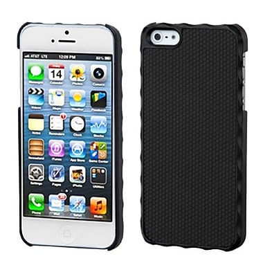 Insten Alloy Executive Back Protector Cover For iPhone 5/5S, Ball Texture Lizzo Black Plaid (1009741)