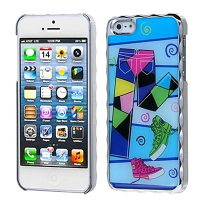 Insten® Alloy Executive Back Protector Cover F/iPhone 5/5S, Silver Plating Fashionable Trouser/Shoes