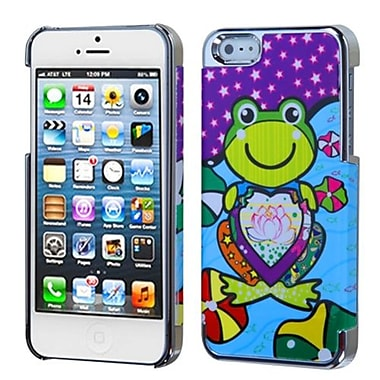 Insten MyDual Back Protector Cover For iPhone 5/5S, Purple Lotus Frog/Silver Plating (1009757)