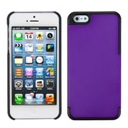 Insten® MyDual Rubberized Back Protector Cover F/iPhone 5/5S, Grape/Black