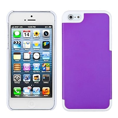 Insten® MyDual Rubberized Back Protector Cover F/iPhone 5/5S; Grape/Ivory White