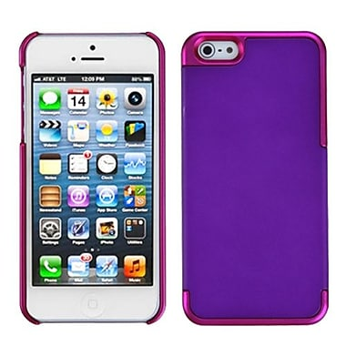 Insten® MyDual Rubberized Back Protector Cover F/iPhone 5/5S, Grape/Titanium Solid Hot-Pink