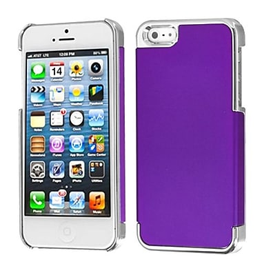 Insten® MyDual Rubberized Back Protector Cover F/iPhone 5/5S, Grape/Silver Plating
