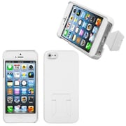 Insten® Back Protector Cover W/Stand F/iPhone 5/5S, White