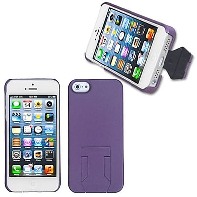 Insten® Back Protector Cover W/Stand F/iPhone 5/5S, Purple