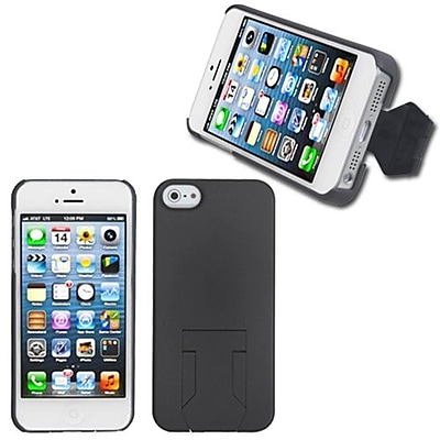 Insten® Back Protector Cover W/Stand F/iPhone 5/5S; Grey