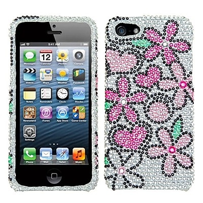 Insten® Diamante Protector Cover F/iPhone 5/5S, Fantastic Flowers