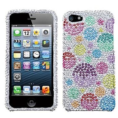 Insten® Diamante Phone Protector Cover F/iPhone 5/5S, Rainbow Bigger Bubbles