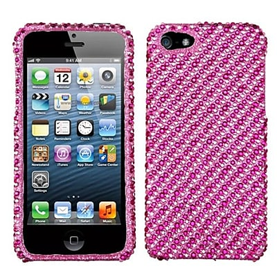 Insten® Diamantes Phone Protector Cover F/iPhone 5/5S, Pink/Hot-Pink