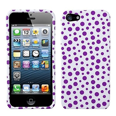 Insten Phone Protector Cover For iPhone 5/5S, Purple Mixed Polka Dots (1009899)