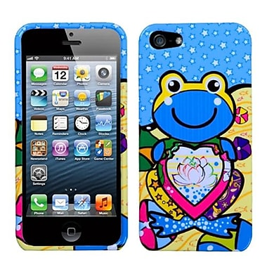 Insten Phone Protector Cover For iPhone 5/5S, Blue Lotus Frog (1009920)