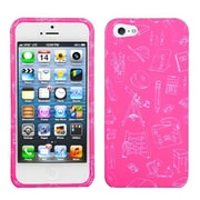 Insten® Phone Protector Cover F/iPhone 5/5S, School Life/Pink