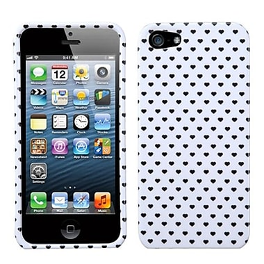 Insten® Phone Protector Cover F/iPhone 5/5S, White Vintage Heart Dots
