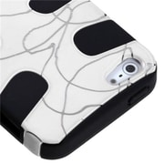 Insten® Fishbone Phone Protector Cover F/iPhone 5/5S, d Lines White/Black