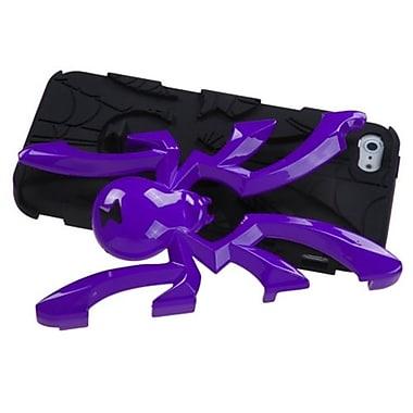 Insten® Spiderbite Hybrid Protector Cover F/iPhone 5/5S, Solid Pearl Purple/Black