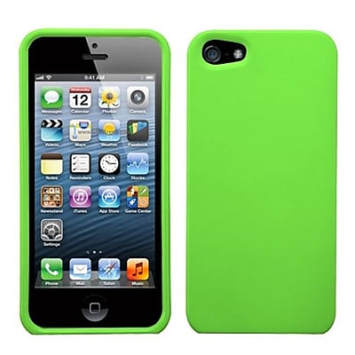 Insten® Rubberized Phone Protector Cover F/iPhone 5/5S; Dr Green