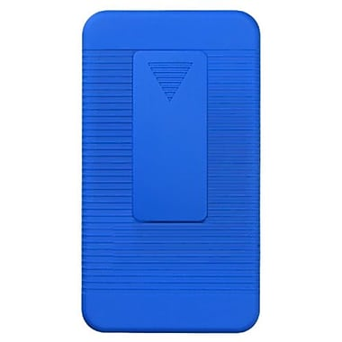 Insten® Rubberized Hybrid Holster For Samsung I777 Galaxy S2, Blue