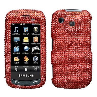 Insten® Diamante Protector Case For Samsung A877 (Impression), Red