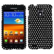 Insten® Diamante Phone Protector Case For Samsung Epic 4G Touch/Galaxy S II, Black/White Dots