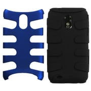 Insten® Fishbone Phone Protector Case For Samsung Epic 4G Touch/Galaxy S II, Dark Blue/Black
