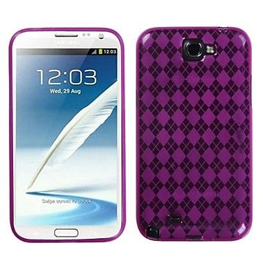 Insten Argyle Candy Skin Case For Samsung Galaxy Note II, Hot Pink (1010499)