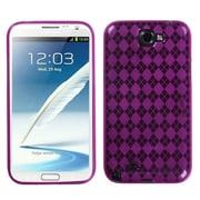 Insten® Argyle Candy Skin Case For Samsung Galaxy Note II (T889/I605), Hot-Pink