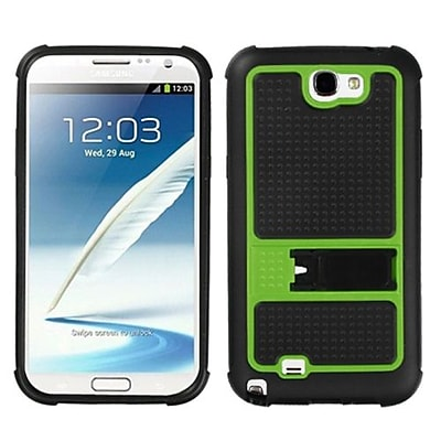 Insten® Gummy Armor Stand For Samsung Galaxy Note II (T889/I605), Green
