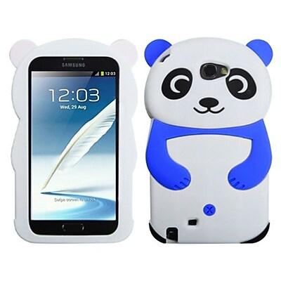Insten® Case For Samsung Galaxy Note II (T889/I605), White Panda Dark Blue Hands