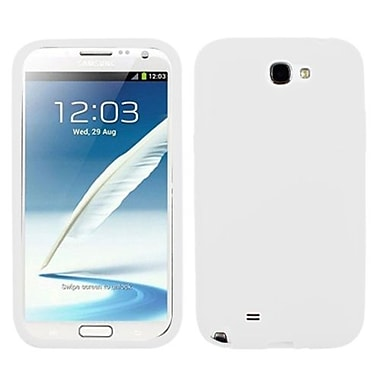 Insten Solid Skin Case For Samsung Galaxy Note II, Translucent White (1010525)
