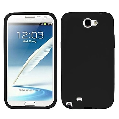 Insten® Solid Skin Case For Samsung Galaxy Note II (T889/I605), Black