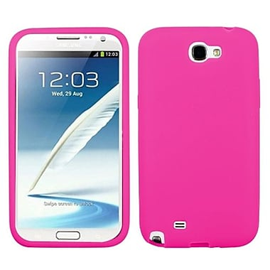 Insten® Solid Skin Case For Samsung Galaxy Note II (T889/I605), Hot-Pink